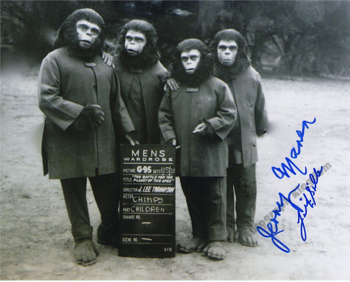 """Jerry Maren """"Planet Of The Apes"""" 8 x 10"""" Autographed Photo (Ref:1111)"""