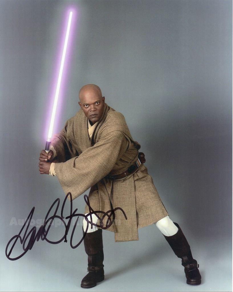 "Samuel L Jackson 8 x 10"" Star Wars Autographed Photo - (Ref:1114)"
