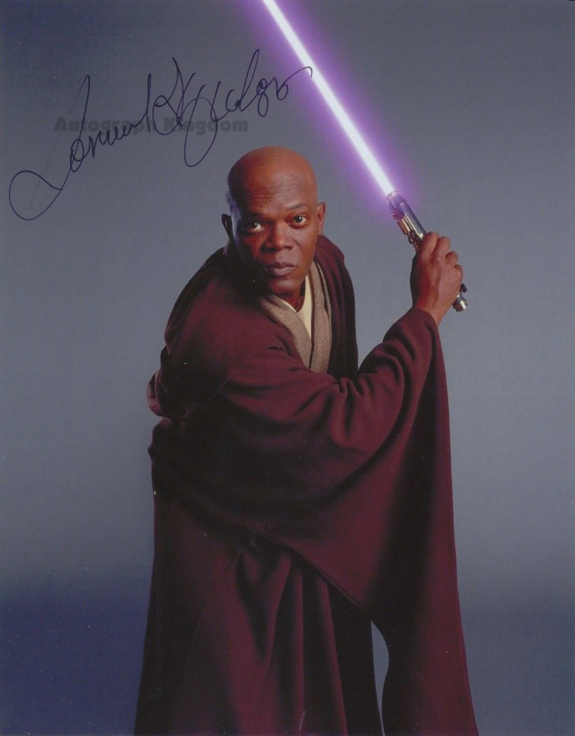 "Samuel L Jackson 8 x 10"" Star Wars Autographed Photo - (Ref:1116)"