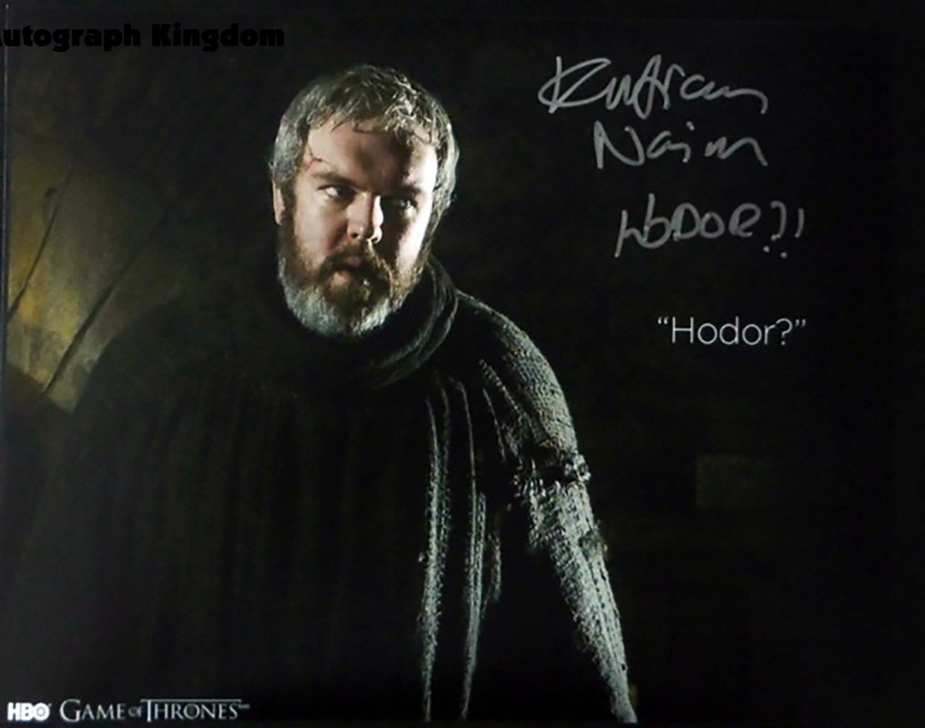 """Kristian Nairn Game Of Thrones 8 x 10"""" Autographed Photo - (Ref:1137)"""