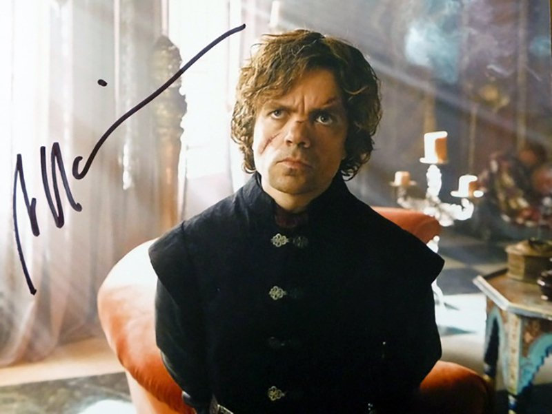 """Peter Dinklage Game Of Thrones 8 x 10"""" Autographed Photo - (Ref:1138)"""