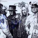 "Motley Crue (Lee, Neil, Mars & Sixx) 8 x 10"" Autographed Photo - (Ref:1168)"