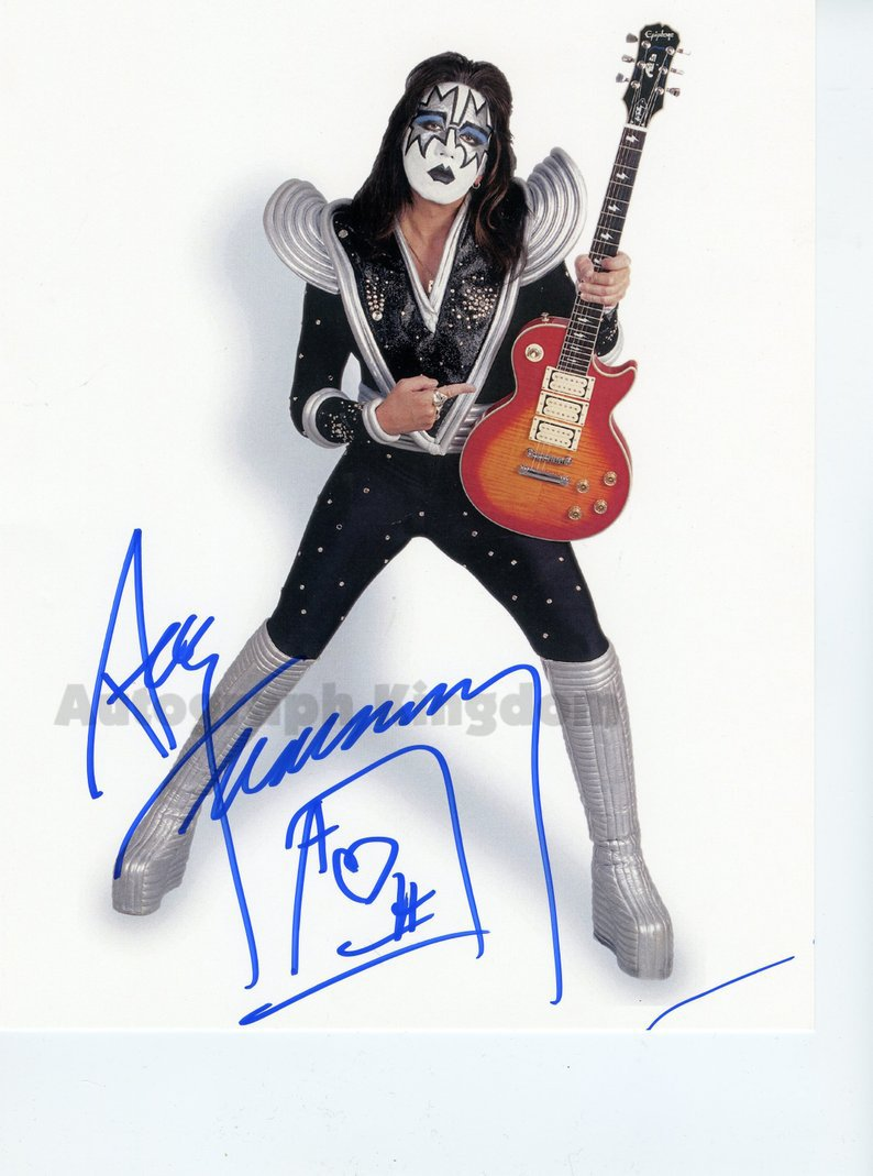 """Ace Frehley 8 x 10"""" Autographed Photo - (Ref:1181)"""