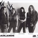"Badlands Jake E Lee  & Eric Singer 8 x 10"" Autographed Photo - (Reprint :1185)"