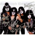 "KISS Eric Singer, Vinne Vincent, Paul Stanley & Gene Simmons 8 x 10"" Autographed Photo - (Ref:1186)"