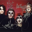 "KISS Ace Frehley, Peter Criss, Paul Stanley & Gene Simmons 8 x 10"" Autographed Photo - (Ref:1187)"