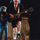"""Angus Young of AC/DC 8 x 10"""" Autographed Photo (Reprint:1250) ideal for Birthdays & X-mas"""