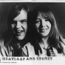 "Meat Loaf & Stoney RARE 1976 8 X 10"" Black & White Promo Photo"