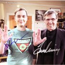 "Leonard Nimoy & Jim Parsons The Big Bang Theory 8 x 10"" Autographed Photo (PP)- (Ref:1273)"