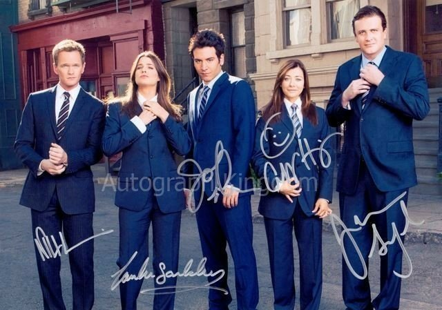 How I Met Your Mother Cast x 5 Autographed Photo (Reprint:1280)