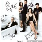 How I Met Your Mother Cast x 5 Autographed Photo (Ref:1295)