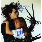 "Johnny Depp & Winona Ryder Edward Scissorhands 8 x 10"" Signed Photo - (Reprint 1311)"