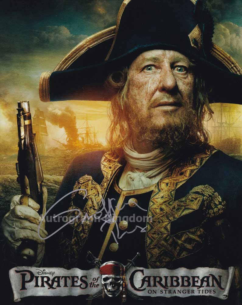 """Geoffrey Rush (Pirates Of The Caribbean) 8 x 10"""" Autographed Photo (Reprint:1327) FREE SHIPPING"""