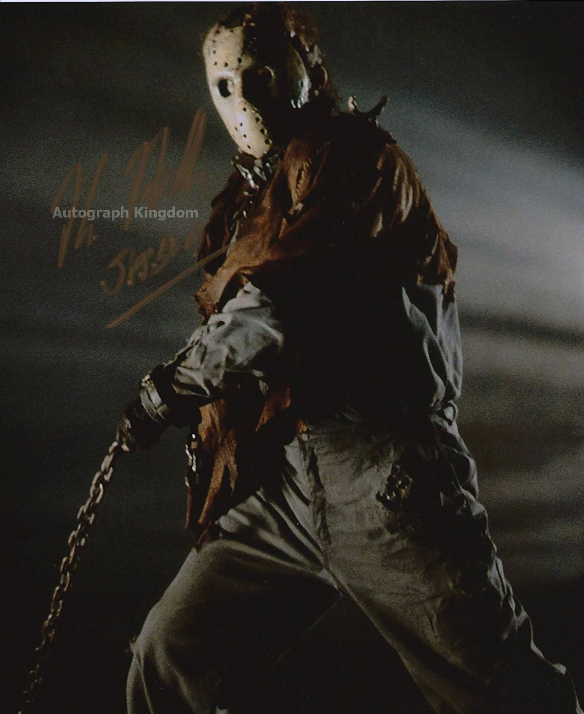 """Kane Hodder 8 x 10"""" Autographed Photo Friday the 13th Part 9: Jason Goes to Hell (Reprint:136)"""