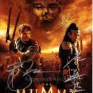 Signed by 2 Brendan Fraser & Jet Li The Mummy Tomb Of The Dragon Dual Signed Photo (Reprint :1357)