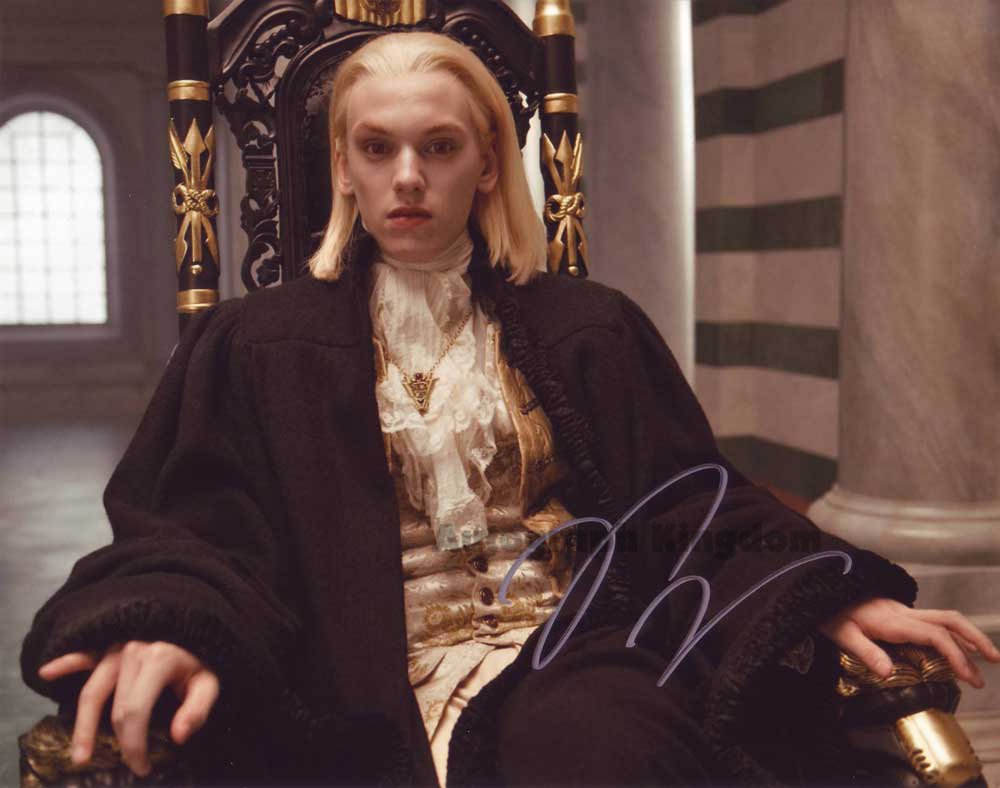 "Jamie Campbell Bower Twilight / Sweeney Todd 8 x 10"" Autographed Photo - (Ref:1424)"