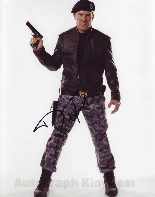 "Dennis Quaid G.I. Joe The Rise Of The Cobra 8 x 10"" Autographed Photo - (Ref:1425)"