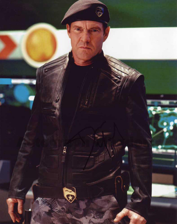 "Dennis Quaid G.I. Joe The Rise Of The Cobra 8 x 10"" Autographed Photo - (Ref:1427)"