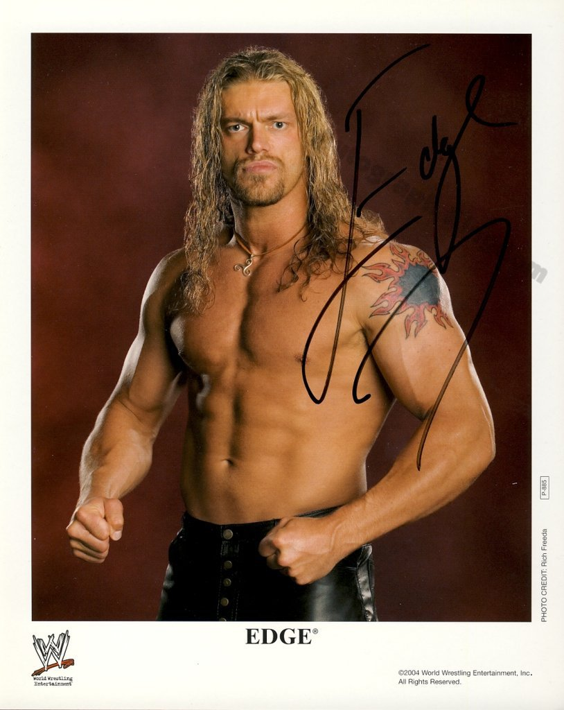 "Edge WWF / WWE Wrestler 8 x 10"" Autographed Photo (Ref:1430)"