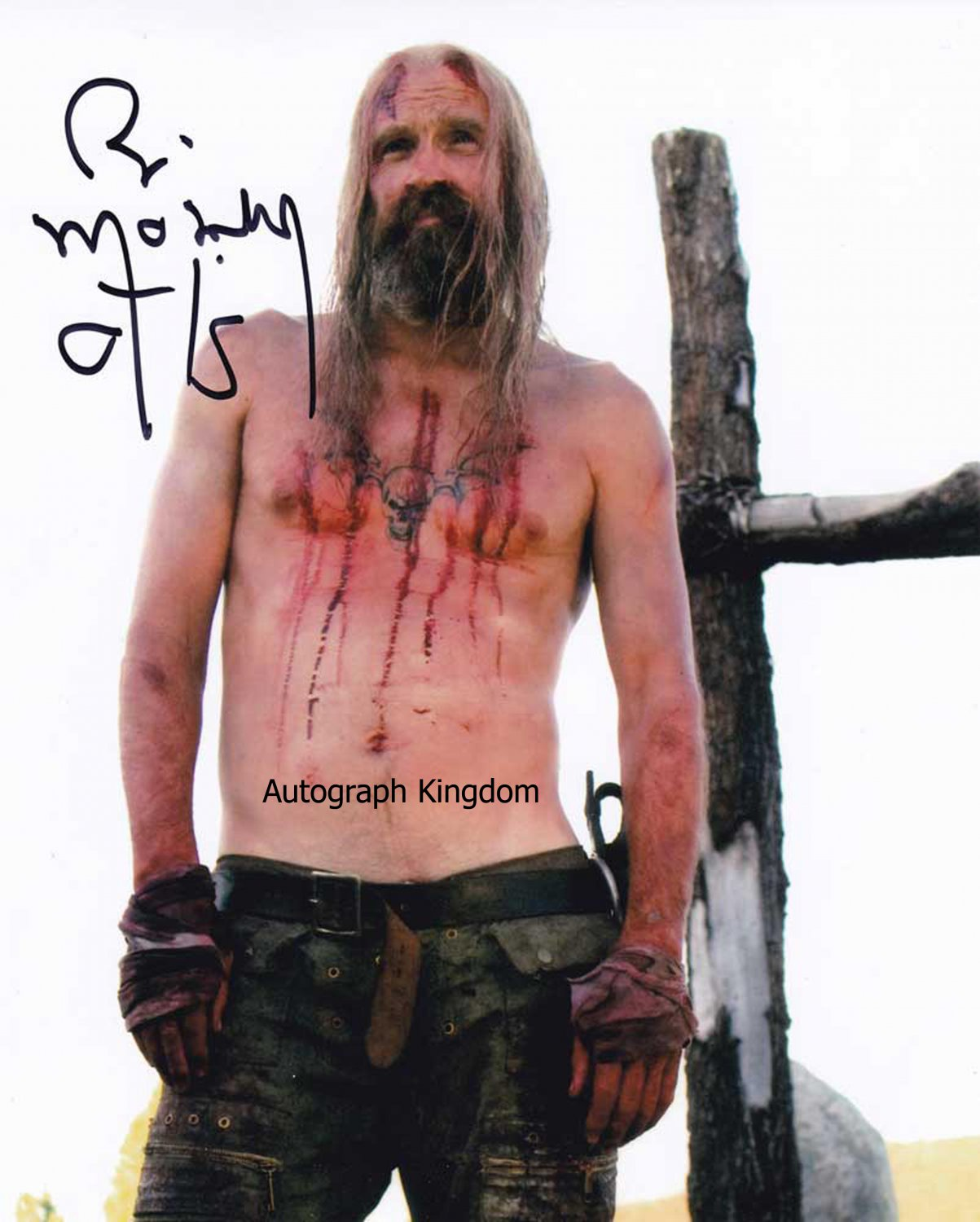 "Bill Moseley (Otis Driftwood: The Devils Rejects) 8 x 10"" Autographed Photo(Reprint:1446)"