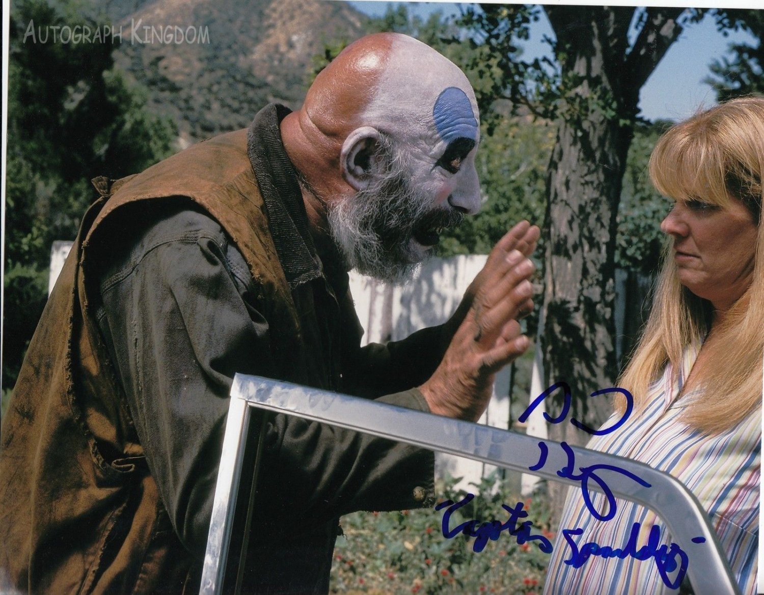 """Sid Haig Captain Spaulding  8 x 10"""" Autographed / Signed Glossy Photo Print - (Ref:1494)"""