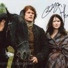 "Caitriona Balfe & Sam Heughan (Outlander) 8 X 10"" Signed Autographed Photo (Reprint:1475)"