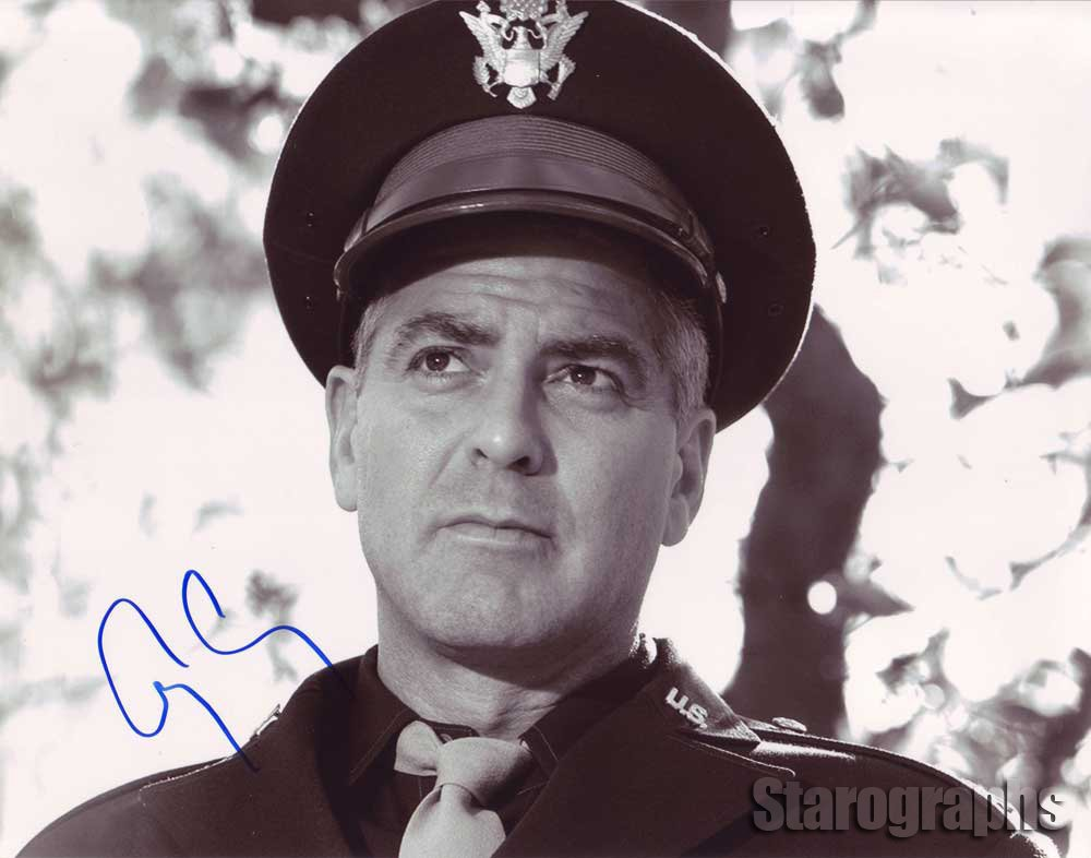 "George Clooney (The Three Kings/ From Dusk Til Dawn) 8 x 10""Autographed Photo (Reprint 1490)"