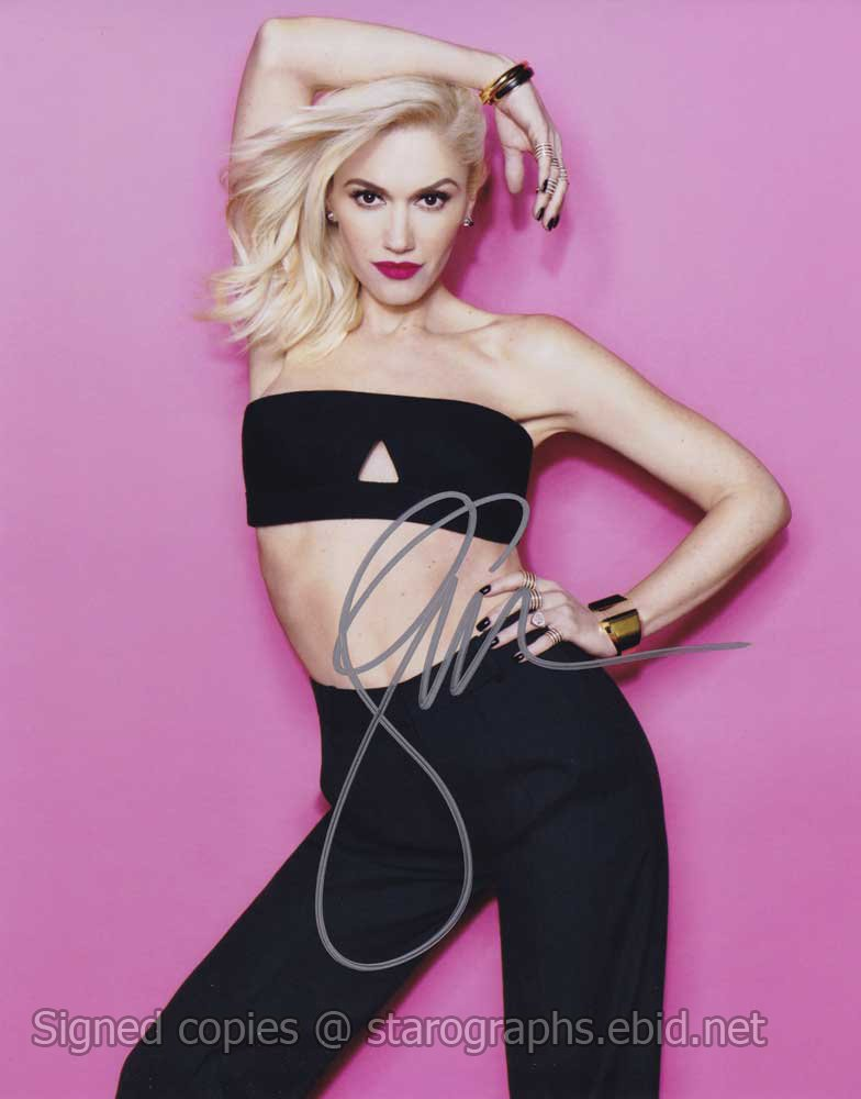 "Gwen Stefani / No Doubt 8 x 10"" Autographed /Signed Glossy Photo Print (Reprint Ref:1509)"