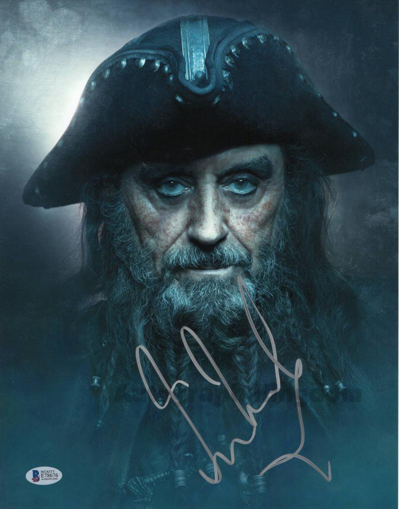 "Ian McShane (Black Beard: Pirates Of The Caribbean) 8 x 10"" Autographed Photo (Ref:1573)"