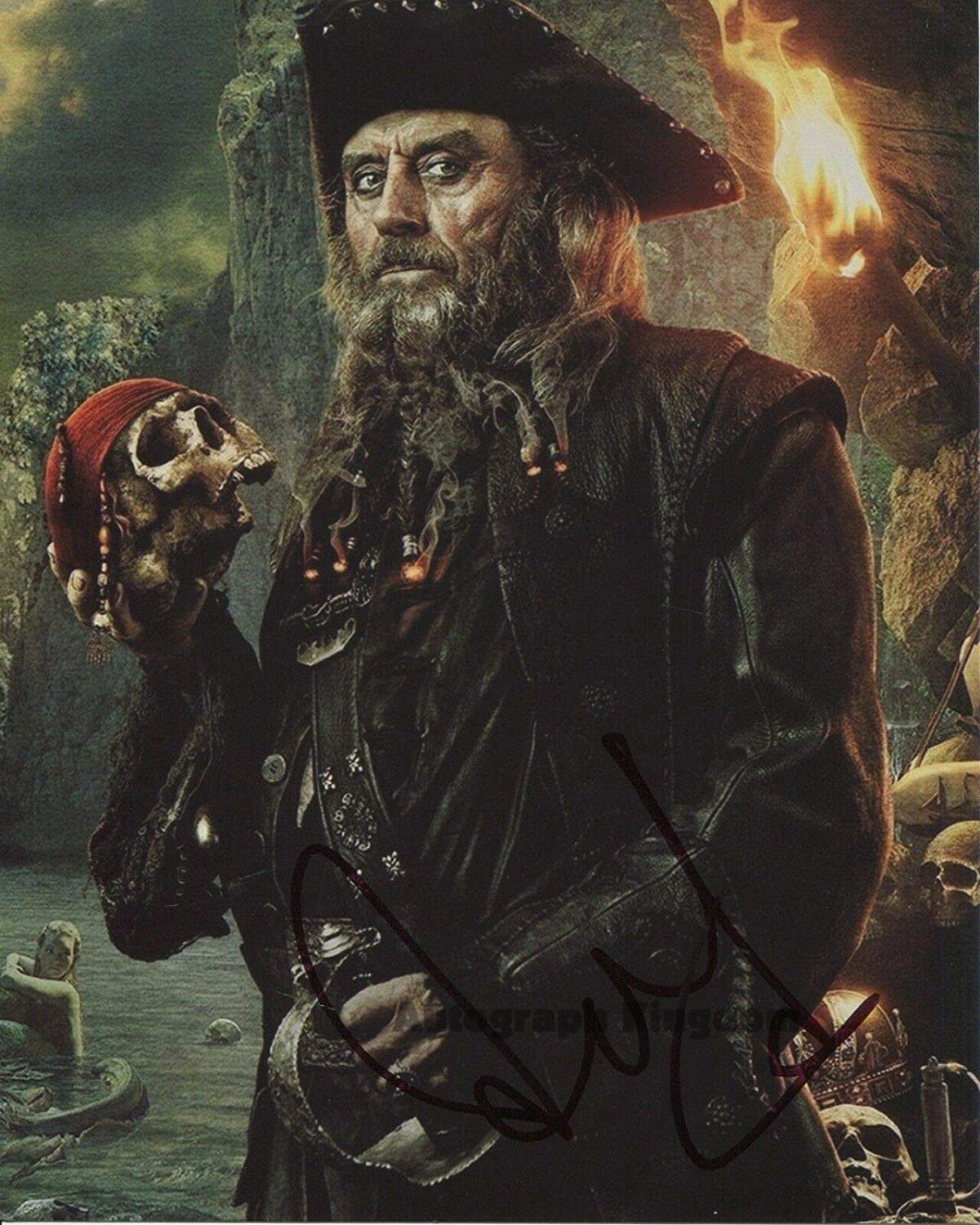 "Ian McShane (Black Beard: Pirates Of The Caribbean) 8 x 10""  Autographed Signed Photo (Reprint:1574)"
