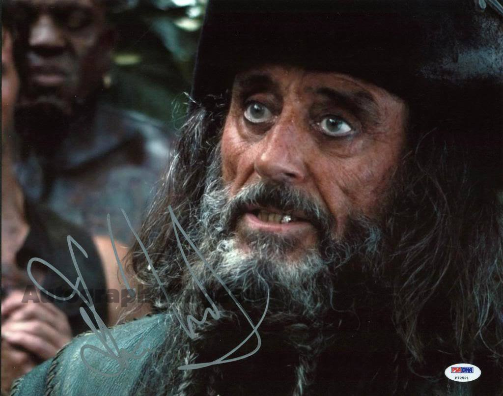 "Ian McShane (Black Beard: Pirates Of The Caribbean) 8 x 10"" Signed Photo- (Reprint:1575)"