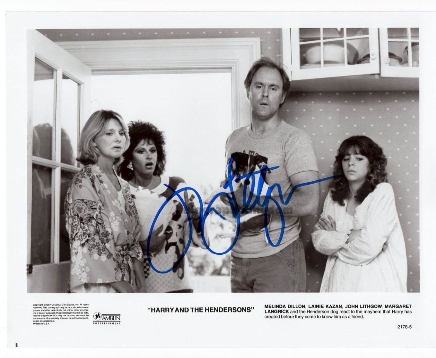 """John Lithgow (Harry & The Hendersons) 8 x 10"""" Signed Autographed photo (Reprint:1577)"""