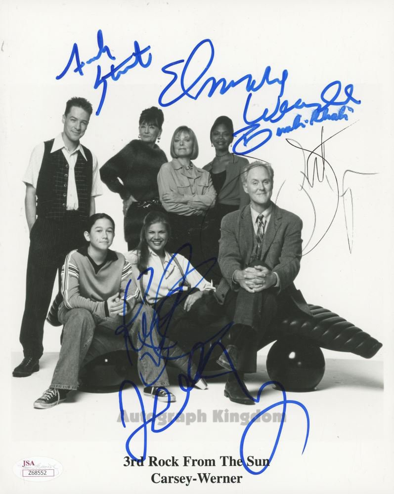 3rd Rock From The Sun Cast x 6 Autographed / Signed Photo (Reprint Ref:1581)