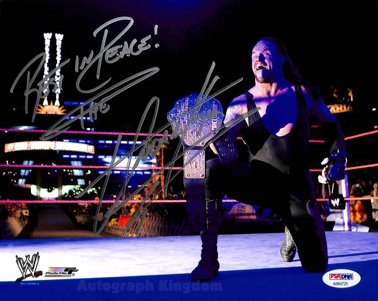"The Undertaker WWF / WWE Wrestler 8 x 10"" Autographed Photo (Reprint Ref:1585)"