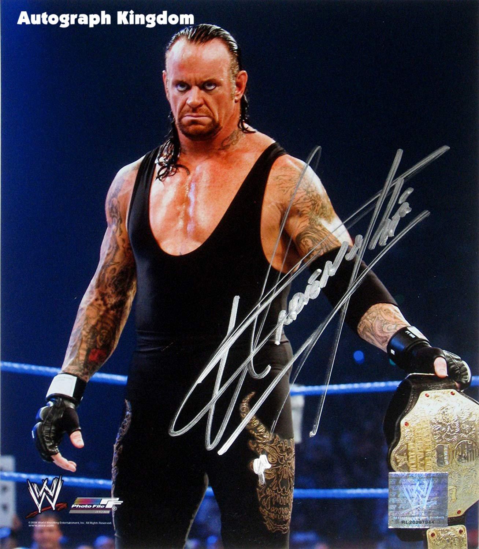 "The Undertaker WWF / WWE Wrestler 8 x 10"" Autographed Photo (Reprint Ref:1586)"