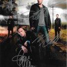Signed by 4 Supernatural Cast x 4 Misha, Mark, Jensen & Jared 8 x 10 Signed Photo - (Reprint:1586)