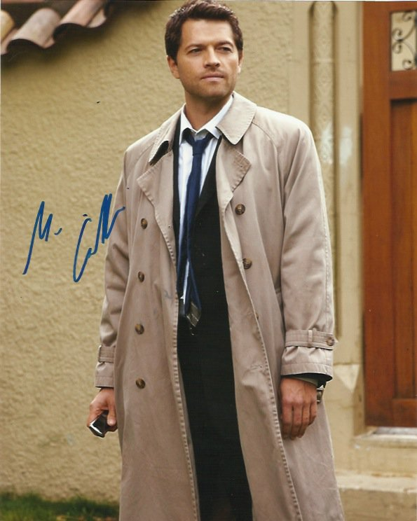 """Misha Collins (Supernatural / Charmed) 8 x 10"""" Autographed Photo (REPRINT :1587) FREE SHIPPING"""