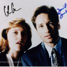 The X Files David Duchovny & Gillian Anderson Dual Signed Photo (Reprint: 1604)