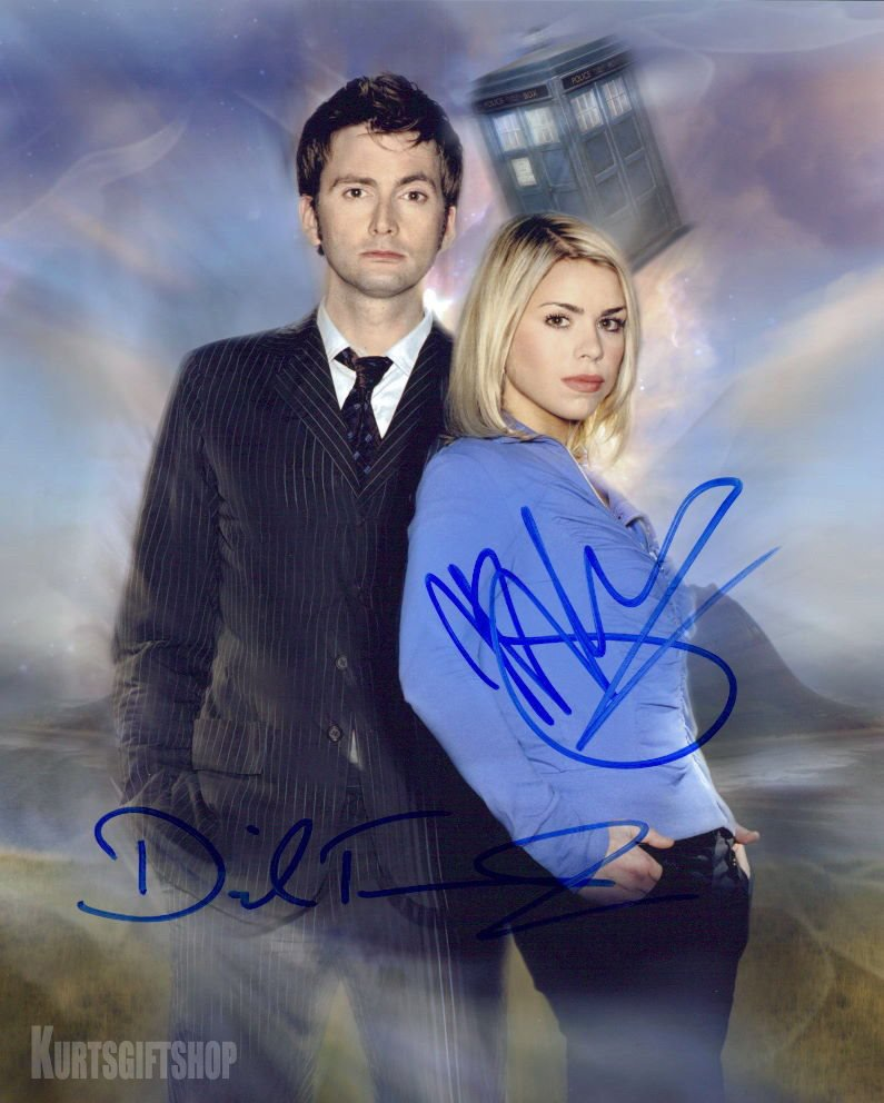 "David Tennant & Billie Pipper  8 x 10"" Autographed Photo (Reprint Ref:1636)"