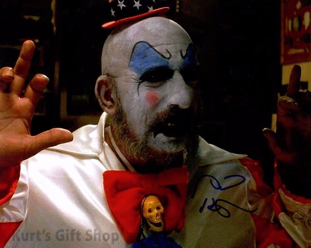 "Sid Haig Captain Spaulding  8 x 10"" Autographed / Signed Glossy Photo Print - (Reprint:1639)"