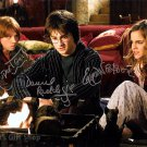 Signed by 3 Harry Potter cast x 3 Autographed Photo: Radcliffe, Watson & Grint (Reprint:1643)