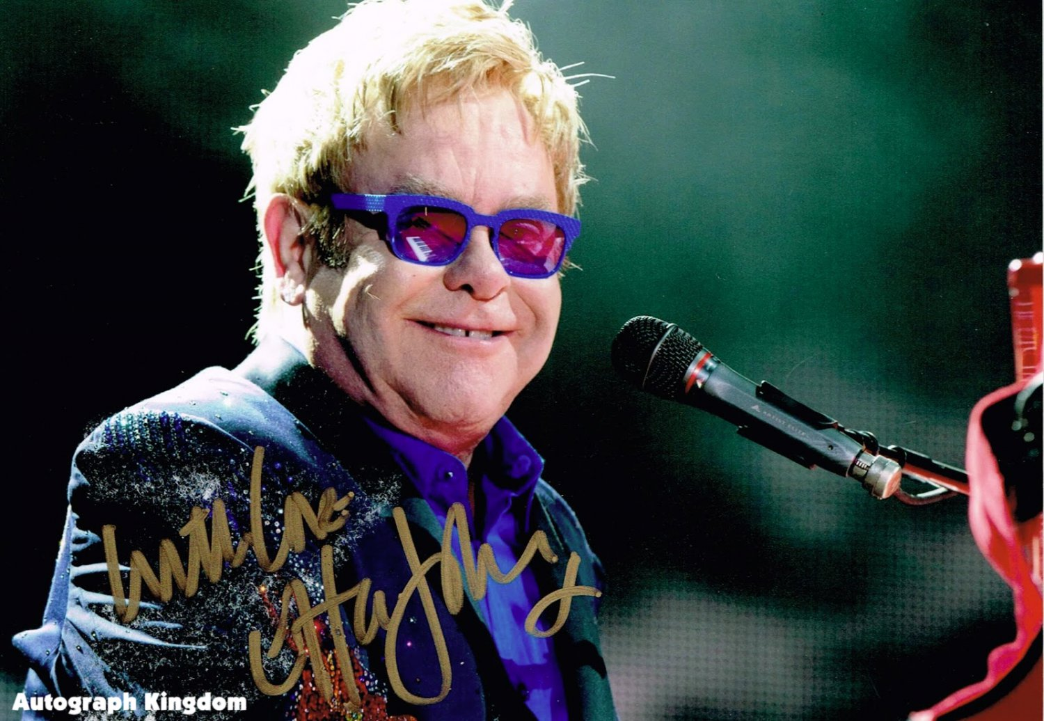 "Elton John 8 x 10"" Autographed Photo (Reprint:1652) ideal for Birthdays & X-mas"