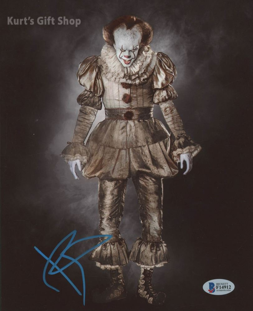 """Bill Skarsgård Pennywise The Dancing Clown 8 x 10"""" Autographed Photo -(Reprint:1668)"""