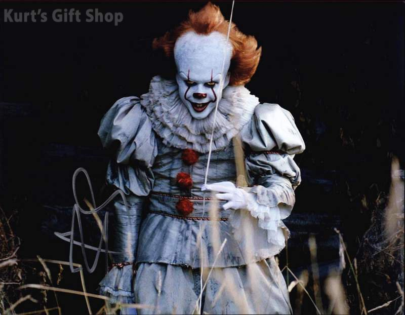 "Bill Skarsgård Pennywise The Dancing Clown 8 x 10"" Autographed Photo -(Reprint:1670)"