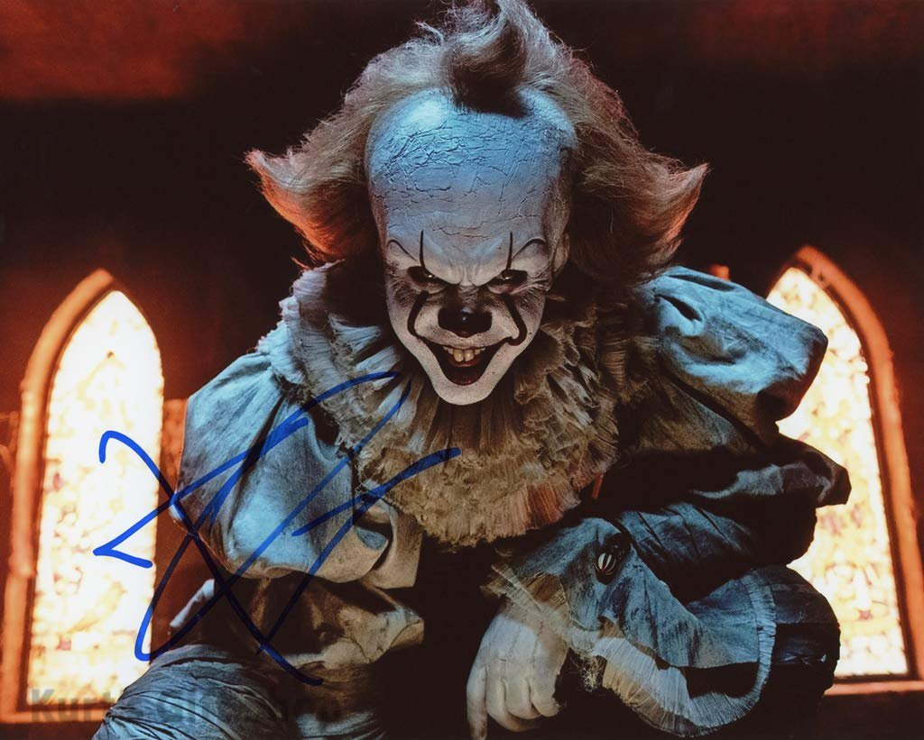 """Bill Skarsgård Pennywise The Dancing Clown 8 x 10"""" Autographed Photo -(Reprint:1672)"""
