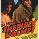 The Adventures of Sherlock Holmes 1939 Vintage Movie Poster | Wall Deco | Bedroom Poster