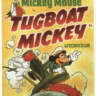 Tugboat Mickey (Movie) 1940 Vintage Movie Poster | Wall Deco | Bedroom Poster | Rare Movie Posters