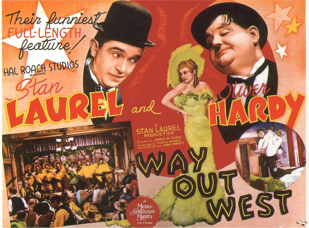 Way Out West (Movie) 1937 Vintage Movie Poster | Wall Deco | Bedroom Poster | Rare Movie Posters