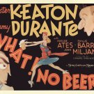 What No Beer (Movie) 1933 Vintage Movie Poster | Wall Deco | Bedroom Poster| Rare Movie Poster