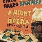 Night at the Opera (Movie) 1935 Vintage Movie Poster | Wall Deco | Bedroom Poster| Rare Movie Poster